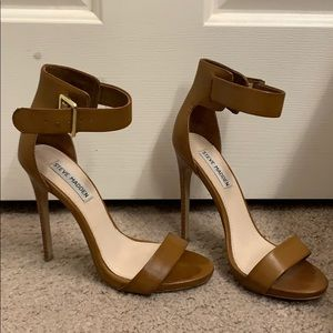 Camel Ankle strap Pumps